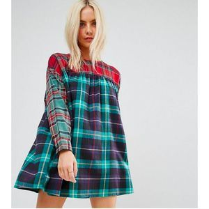 ASOS Smock Dress in Mixed Check